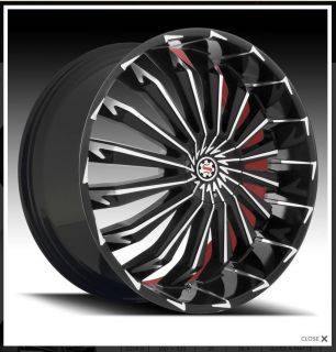 """Scarlet SW5 26"""" Wheels Rims Tires Fitchevy Cadillac GMC Ford Old School Cars"""