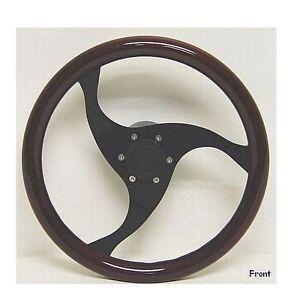Custom 14 inch Simulated Wood Boat Steering Wheel