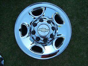 "Chevy GMC Chrome 8 Lug Wheel 16"" Rim Silverado Sierra 2500 3500 1500 HD"
