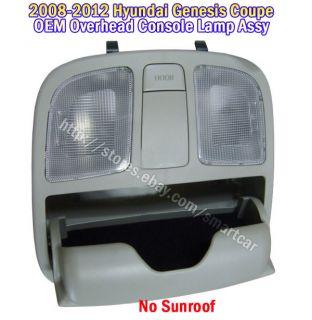 2010 2011 2012 Hyundai Genesis Coupe Overhead Console Lamp Assy