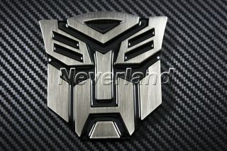 3D Transformers Autobot Car Front Grille Emblem Metal Badges Logo 3 Color Choice