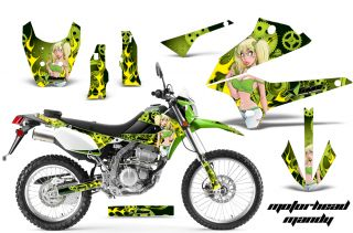 AMR Racing Motocross D Tracker Dirt Bike Decal Wrap Kawasaki KLX 250 08 12 MMG