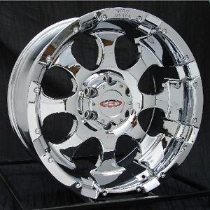 16 inch Chrome Wheels Rims Chevy GMC 1500 6 Lug Truck Yukon Tahoe Moto Metal