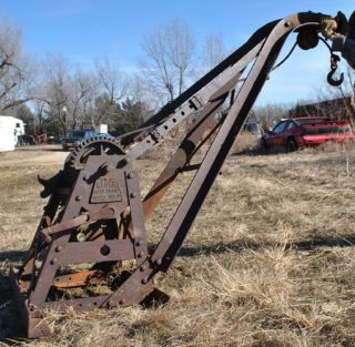Old Vintage Factory Weaver Auto Crane Mfg Co Antique Truck 3 Ton Wrecker Boom