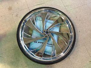 "30"" inch Chrome Wheel Tire Street Road Glide King Lo Cash Front Harley 30 L K"