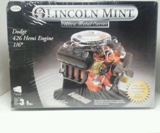 Lincoln Mint Dodge 426 Hemi Engine Model Kit 1 6 Ultra Metal Series Testors
