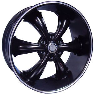 24 inch Dcenti DW19 Black Wheels Rims Tires Fit Chevy Nissan Cadillac Old Cars