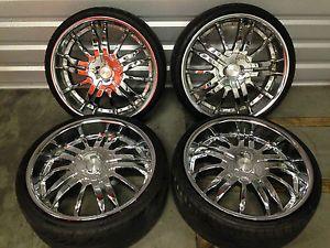 20 inch Chrome Wheels Rims 5 Lug Universal 5x114 3 Toyota Nissan Honda