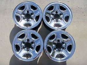 "4 16"" Factory Genuine GM Chevy GMC Truck SUV Van Chrome Steel Wheels Rims"