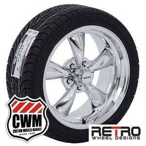 "18x8"" 18x9"" Retro Wheel Designs Chrome Rims Tires for Chevy Camaro 1972"