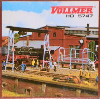 Spur H0 Vollmer 5747 Rohrblasgerüst Und Bockkran