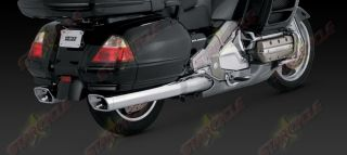 01 11 Honda Gold Wing Vance Hines Monster Slip on Exhaust Mufflers