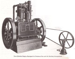 IHC International Famous Titan Hit Miss Gas Engine Inverted Air Compressor Pump