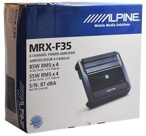 Alpine MRX F35 4 Channel Car Audio Amplifier x Power Series Car Amp MRXF35