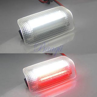 Pair of White with Red LED Lights Door Lamp Kit Fit for Lexus Toyota MA296
