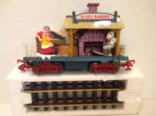 New Bright Holiday Express Animated Train Bakery Car 384 3 Benefits Kid Charity