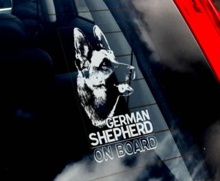 German Shepherd Dog Car Sticker Alsation Sign N Collar