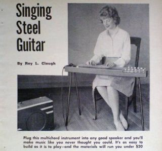 EZ 2 Build Multichord Pedal Steel Guitar 1965 Plans