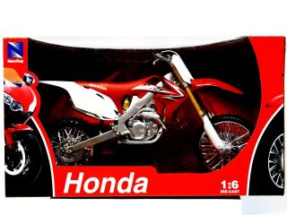 Honda CRF 450 Diecast New Ray Model 1 6 Scale Motocross CRF450R Supercross 250