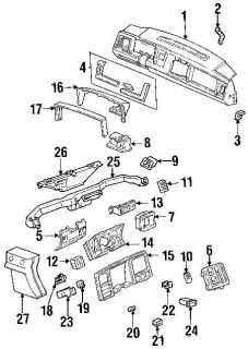 Chevy GMC Pickup Truck Instrument Cluster Cover Visor Carrier Interior Dash Blue