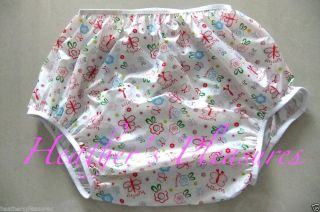 Adult Baby AB DL Abdl Waterproof Noisy Plastic Pants Diaper Cover Nappy M L XL