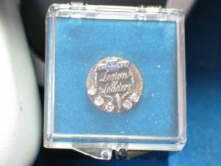 Chevrolet 100 Club Pin Badge 10K Gold 5 Diamonds Nice Size Diamonds