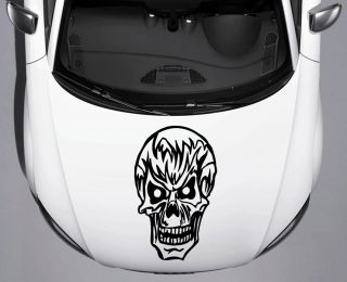 Cool Scary Skull Car Truck Hood Vinyl Decal Free Shippping Free Squeegee 15
