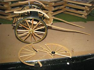 Replacement Wheels for Breyer Meadow Brook Carts Rubber Tire Brass Rim Hub