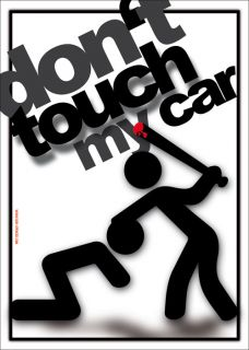 Dont Touch My Car Aufkleber Sticker Bomb Shocker Aufkleber Decal Patch Dub