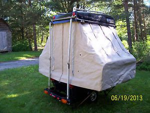 Motorcycle camper Popup Tent camper Small camper Motorcycle Trailer