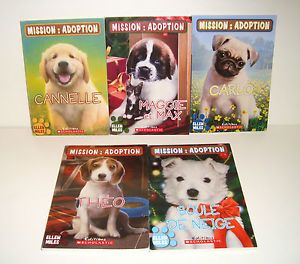 5 Puppy Place French Version Chapter Books Mission Adoption by Ellen Miles