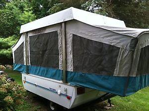 Coleman Cedar Popup Pop Up Towable camper Folding Camping Trailer RV Camp 92