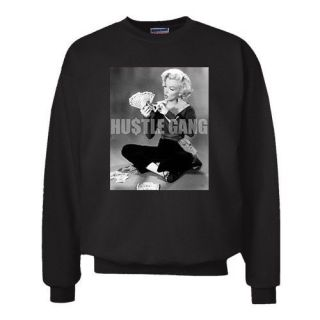 Hustle Gang Cash Marilyn Monroe Mula Hipster Swag Vintage Urban Sweatshirt M