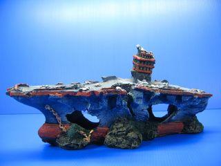 """Broken Aircraft Carrier 13 1"""" Aquarium Ornament Decor Shipwreck Cave SHIP Navy"""