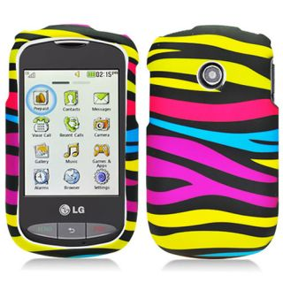 Rainbow Zebra Hard Case Cover for Tracfone LG 800G Net10 Phone Accessory