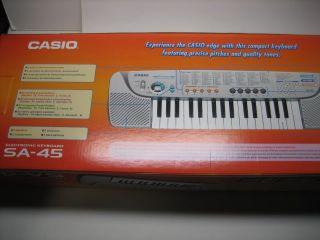 Casio SA 45 Electronic Keyboard 32 Mini Keys