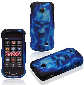 Y Skull Straight Talk Samsung SGH T528G Protective Phone Cover Hard Case Skin