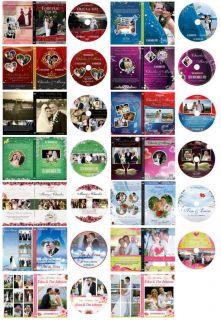 Wedding Digital DVD Covers Labels Photoshop Templates Backdrop Background Frames