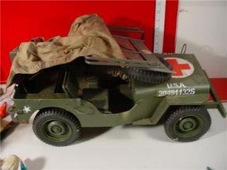 "Army Military Medic Jeep Red Cross Kitbash 2 1 6 12"" Gi Joe Action Figure Acc"