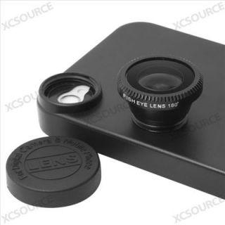 180° Fisheye Fish Eye Detachable Lens Back Cover Case for iPhone 4S 4G DC127