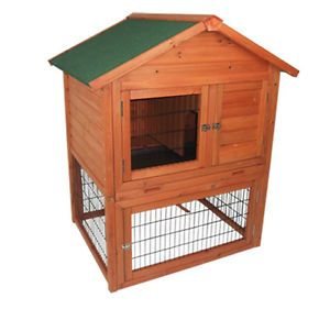 Portable Wooden Pet Rabbit House Chicken Coop Wood Hen Hutch Little Pet Cage Box