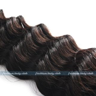 100g Remy Brazilian Deep Wave Wavy Curly Real Human Hair Weave Weft Extensions