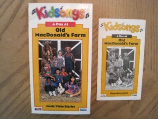 Lot 5 VHS Videos Kid Songs Kidsongs Mccdonald Range Animals to Be Cars Songbooks