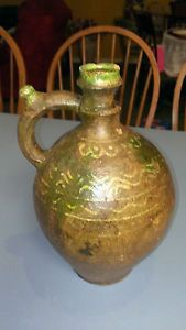 Vintage Mexican Clay Pottery Water Jug on PopScreen
