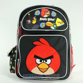 "Rovio Angry Birds Shooting 16"" Large Backpack Book Bag School Boys Girls Kids"