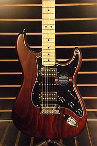 Fender FSR American Standard Hand Stained Ash Stratocaster HSH Mahogany Stain