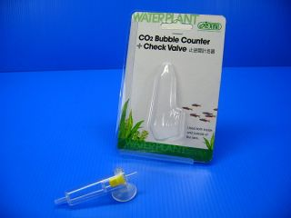 Ista CO2 Bubble Counter Check Valve Aquarium Tank Water Plants 4 6mm Tube
