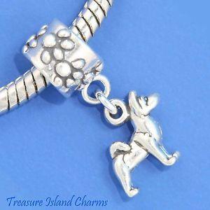 Akita Dog Breed Spitz 925 Solid Sterling Silver European Euro Dangle Bead Charm