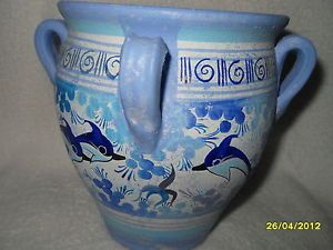 Beautiful Hand Made Replica 1500 Greece Clay Pottery Vase Hand Painted