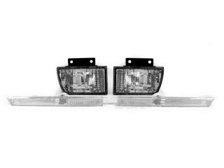 Depo 1990 1996 Chevy Beretta Clear Front Bumper Signal Lights Side Marker Lamp